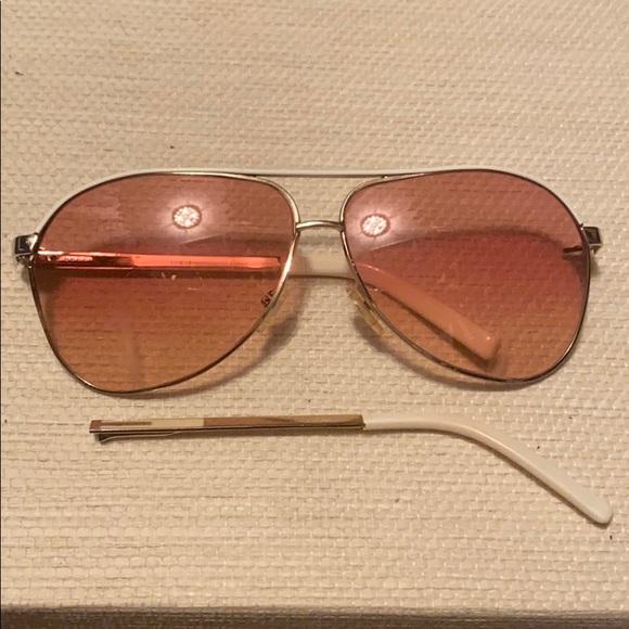 Gucci Aviator Sunglasses White/Gold